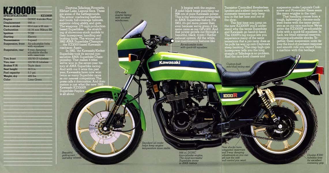 Brochure for the original Kawasaki KZ1000R Eddie Lawson Replica