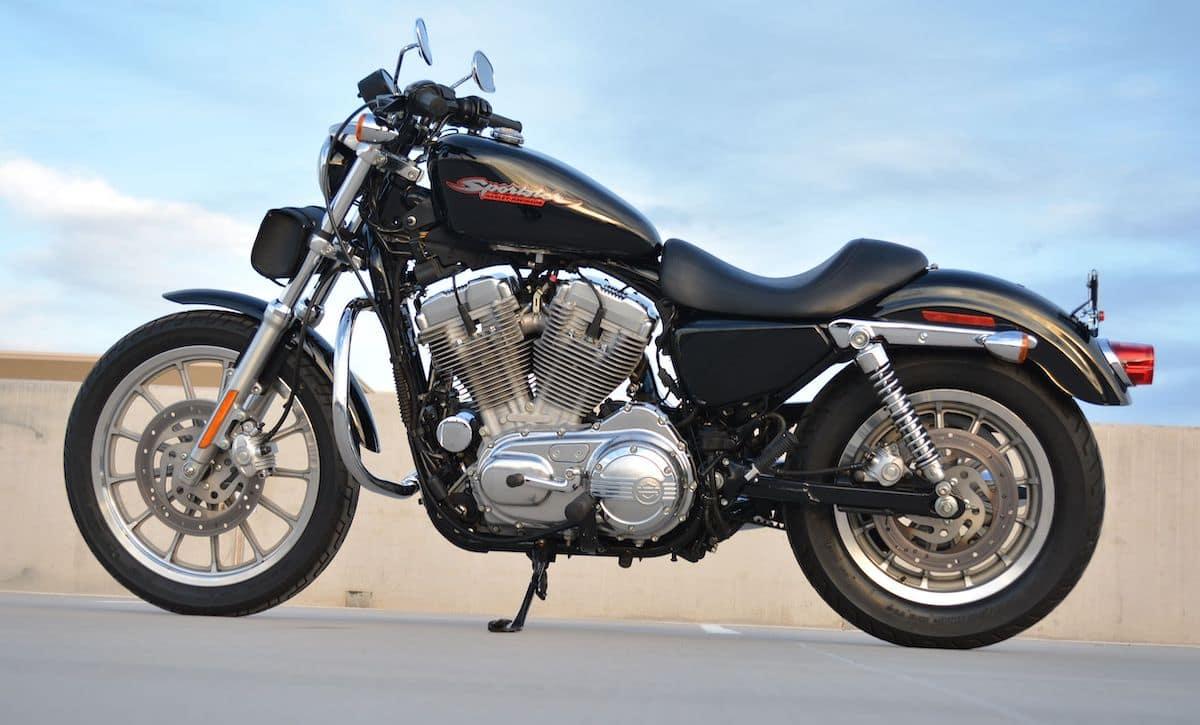 The Harley Davidson — a competitor to the Triumph Scrambler