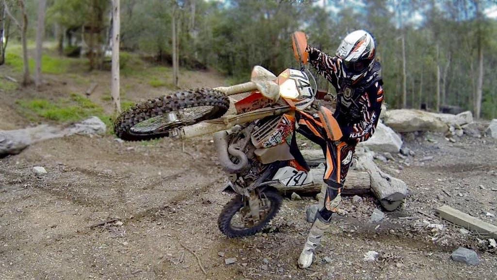 Triumph Scramblers cannot operate like this dirt bike