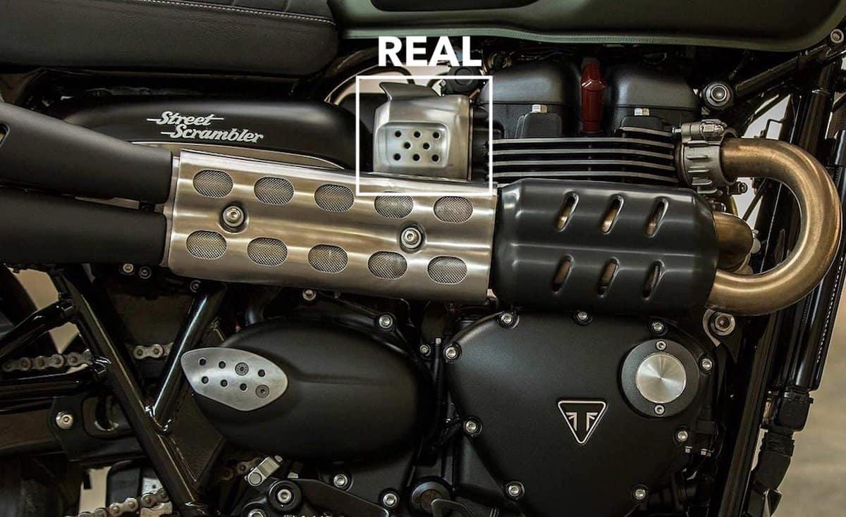 Triumph Scrambler carburettors, I mean fuel injection