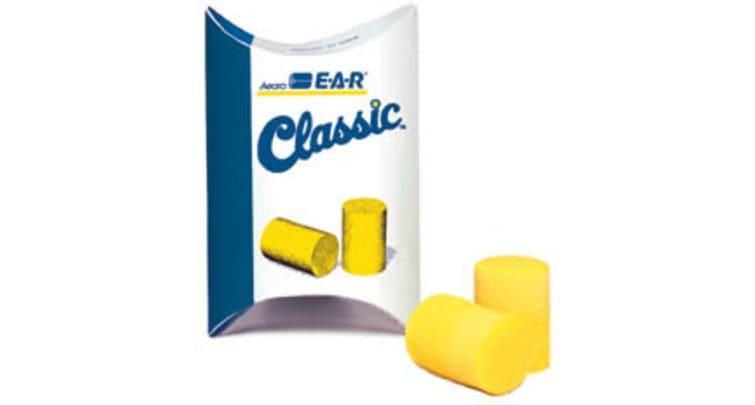 3M 311 classic E-A-R foam earplugs. As effective as AirPods Pro on a Motorcycle/Motorbike