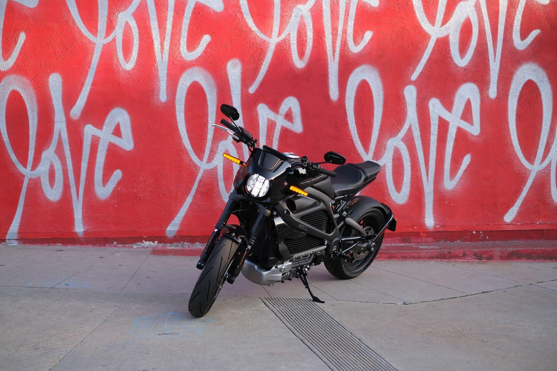 The Harley-Davidson LiveWire in LA