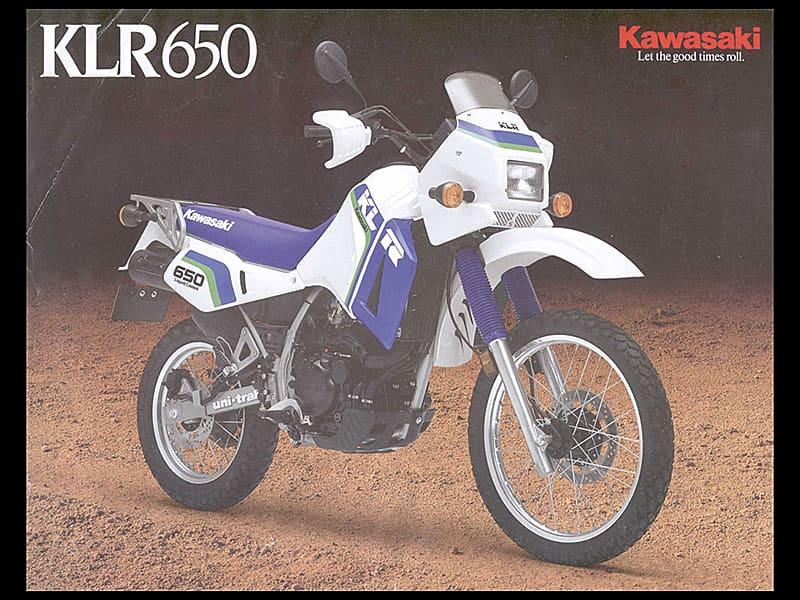 Advertisement for the Kawasaki KLR650